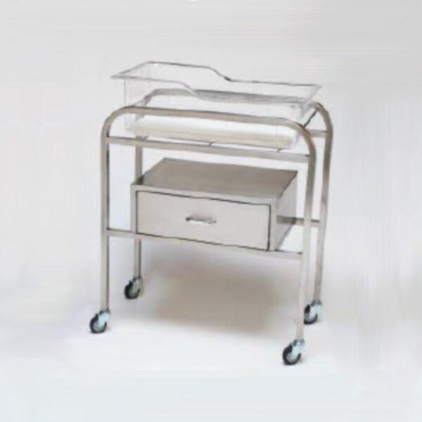 Stainless steel maternity bassinet